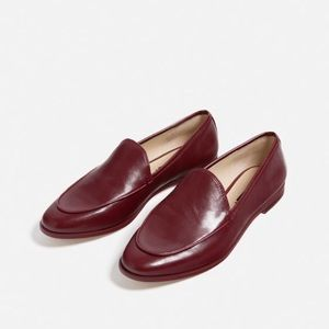 NWT ZARA RED LOAFERS/39
